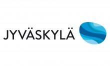 Jyväskylän kaupungin markkinointilogossa on teksti Jyväskylä ja logo.